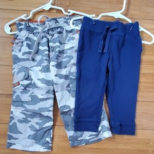Bundle of 2 Old Navy boys pants camo navy 12-18m